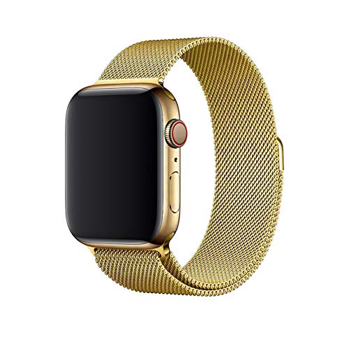 Crong Milano Steel Elegante roestvrijstalen armband voor Apple Watch 38/40 mm, goud