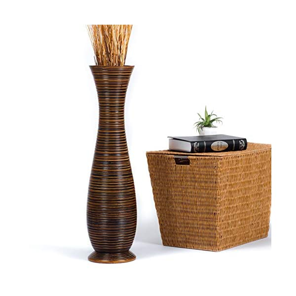 Leewadee-Grand-Vase-A-Poser-Au-Sol-pour-Branches-Dcoratives-Design-Vase-Haut-Bois-de-Mangue-Marron
