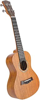 Neufday Ukelele de 4 Cuerdas, 23 '' portátil de Caoba Africana Estilo Antiguo Ukelele 4 Cuerdas Hawaii Guitarra Instrumento Musical(Amarillo)