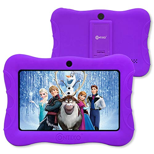 contixo V9-3-32 7 Inch Kids Tablet, 2GB RAM 32 GB ROM, Android 10 Tablet, Educational Tablets for Kids, Parental Control Pre Installed, Purple