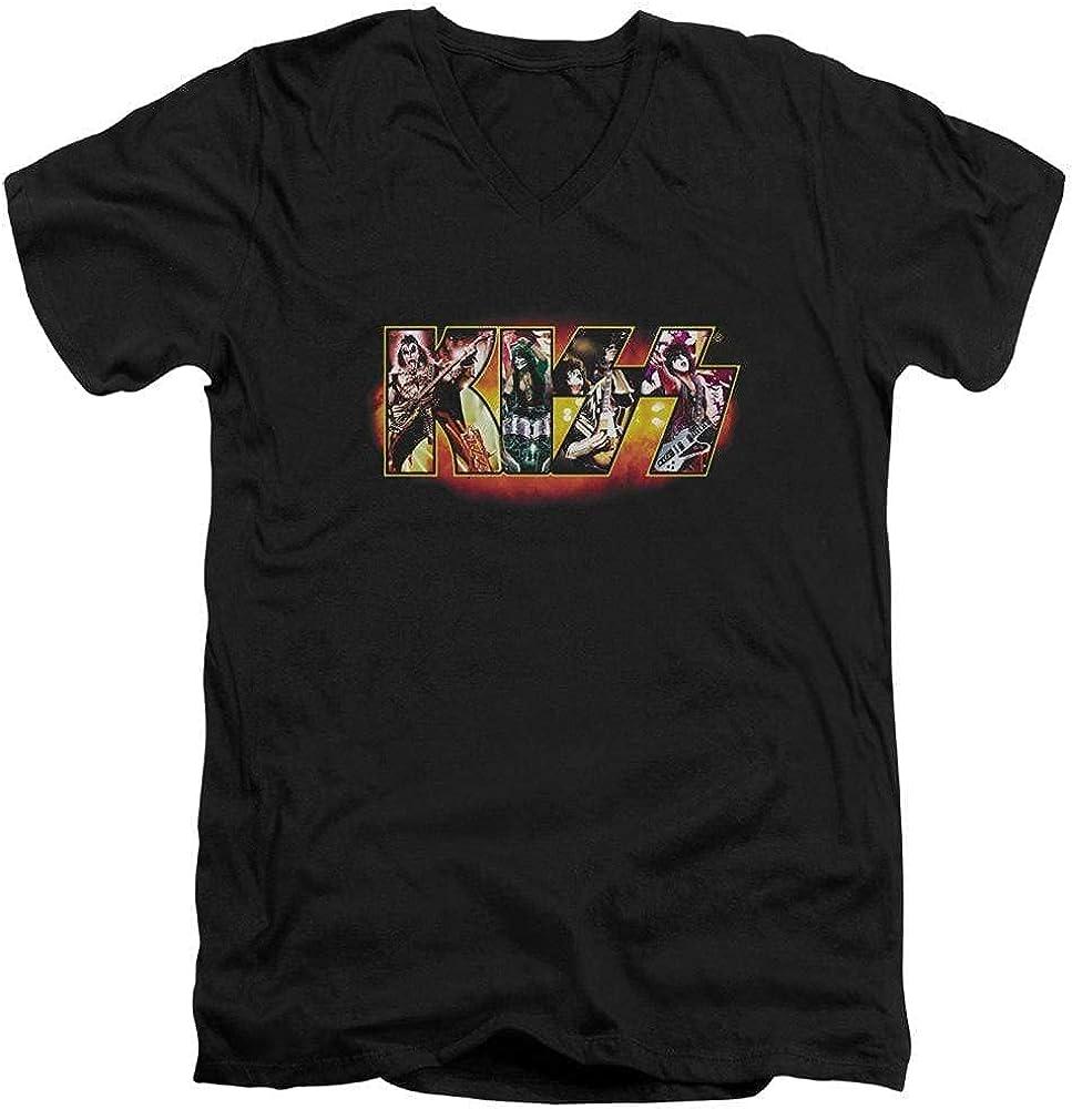 Kiss Stage Logo Adult V-Neck T-Shirt