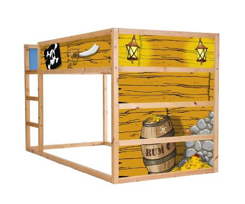 Stikkipix Piraten Möbelsticker/Aufkleber für das Hochbett KURA von IKEA - IM12 - Möbel Nicht Inklusive