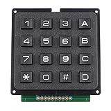 HALJIA 4 x 4 Matrix Array 16 Switch Teclado Módulo 16 Teclas MCU Membrana Switch Teclado Teclado...