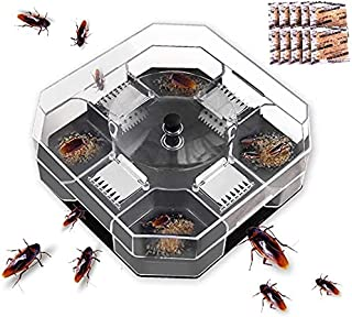 Rayking Cockroach Trap, Cockroach Catcher, Outlines Effective Cockroach Killer Bait, Washable and Easy to Clean No Polluti...