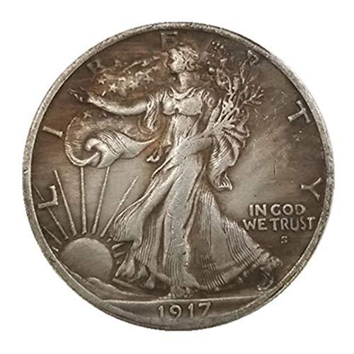 Ccyyy Moneda de Plata Antigua colección Estados Unidos 1917 Medio cen