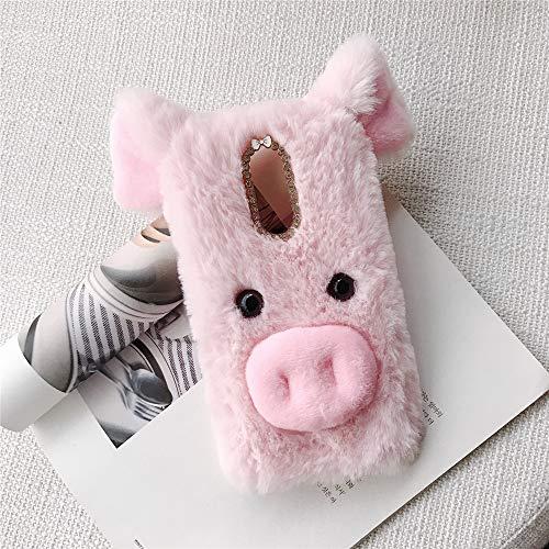 ZYQ Rosado 3D Pig Style Funda Caso TPU Silicona Case para Alcatel 3C Gel Shell Carcasa Protección Cover…