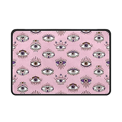 Eyes Esoteric Inspiration Doormat Rug Easy to Clean Non Slip Backing Entry Way Doormat Floor Mat For Patio Front Door Entry Garage Kitchen Bathroom Laundry Room All Weather Indoor/Outdoor