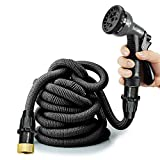 Expandable Garden Hose,Heavy Duty Extra Strength Fabric Hose with...
