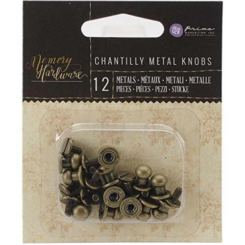 Prima Marketing Metal Memoria Hardware Embellishments-Metal Pomos, 1