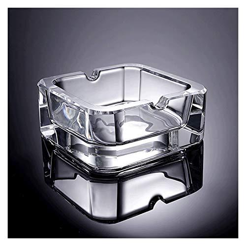 Cenicero para Exterior e Interior Cenicero de cristal de cristal Cenicero de la mesa de café de la mesa de café sin tapa (2.7in y 35) regalos para fumadores para Hogar Oficina, Apartamento, Dormitorio
