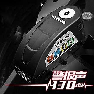 YLWSDDD Motorcycle Waterproof Alarm Lock Bike Disc Lock Warning Security Anti Theft Brake Rotor Padlock