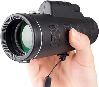 pesca NUZAMAS 10 x 40 Monocular Telescopio y tel/éfono adaptador Tr/ípode Set caza FMC Green Film viajes port/átil telescopio impermeable para observaci/ón de aves High Optical Monocular