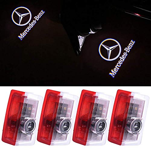 Klinee Autotür LED Beleuchtung Logo Lichter Projektor Courtesy Willkommen Licht für Mercedes-Benz, 4 Stück