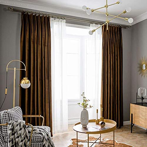 GOPG Cortina de sala de estar, aislamiento térmico, opaca, con bloqueo del sol, suave, transpirable, decorativa, para dormitorio, balcón, oficina, 150 cm de ancho x 270 cm de alto, 1 panel