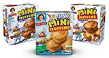 Includes 1 Box of Little Debbie Birthday Cake Mini Muffins, Little Debbie Chocolate Chip Mini Muffins, and Little Debbie Blueberry Mini Muffins 5 Individual Pouches of Birthday Cake Mini Muffins, 5 Individual Pouches of Chocolate Chip Mini Muffins, 5...
