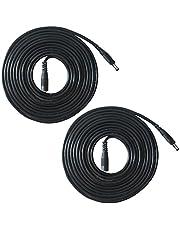 Liwinting 2 Piezas 2m DC Cable de Extensión de Alimentación 1,35 mm x 3,5 mm Macho a Hembra Cable de Extensión, Adecuado para Adaptador de Corriente, Cámara IP Inalámbrica y Mucho Más - Negro