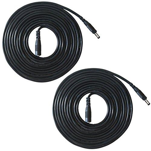 Liwinting 2pcs 2m DC Verlängerungs Kabel DC-Energieverlängerungs Kabel 3.5mm x 1.35mm Mann zum Weiblichen DC-Stecker-Verlängerungs Kabel Verwendbar für Kameras, Energien-Adapter, IP-Kamera - Schwarz