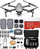 DJI Mavic 2 PRO Drone Quadcopter with Hasselblad Video Camera, 2 Batteries, 4 Piece Lens Filter Kit, Waterproof Shockproof Hard Case, 128 GB sd Card, Gimbal Bundle Kit with Must Have Accessories