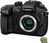 PANASONIC Lumix GH5 4K Digital Camera, 20.3 Megapixel Mirrorless Camera with Digital Live MOS Sensor, 5-Axis Dual I.S. 2.0, 4K 4:2:2 10-Bit Video, Full-Size HDMI Out, 3.2-Inch LCD, DC-GH5 (Black)