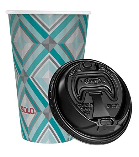 Solo Hot Cups with Lids, 16 oz, 90 Count