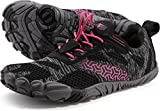 WHITIN Zapatilla Minimalista de Barefoot Trail Running para Mujer Five Fingers Fivefingers Zapato Descalzo Correr Deportivas Fitness Gimnasio Calzado Asfalto Rosado 36 EU