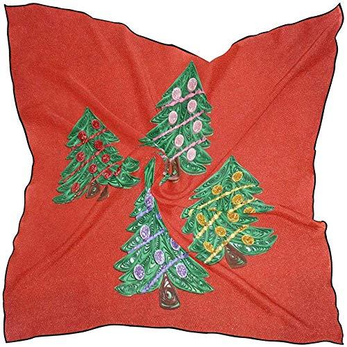 NA Silk Scarf Christmas Quilling Patterns Quadratisches Kopftuch für Frauen M