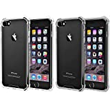 iBarbe [2pack] Clear Cover iPhone 6 6s Case, Protective Shell Shockproof Heavy Duty TPU Bumper Impact Resistant Case Anti-scratches EXTREME Protection Cover Heavy Duty Card Case for iPhone 6 6S 4.7'
