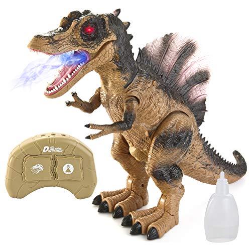 Jumbo RC Remote Control Spinosaurus Dinosaur T-rex Toy with Light \u0026amp; Sound, Electronic Walking, Spray Mist