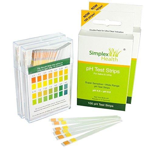 SimplexHealth PH-Teststreifen für Urin und Speichel (Doppelpack 200Streifen)