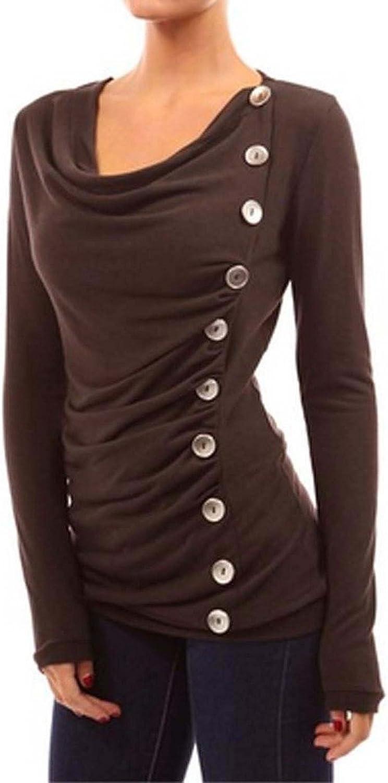 Sugar Rock Women Shirt Cowl Neck Button Detail L s W Washing Laudry Bag