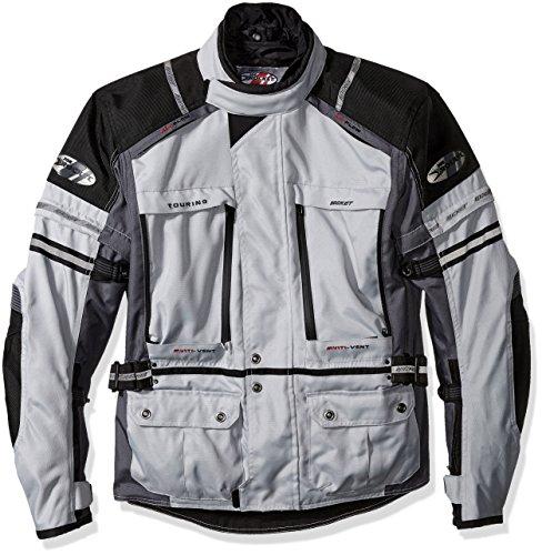 Joe Rocket Ballistic Adventure Men's Textile Touring Motorcycle Jacket (Silver/Gunmetal)