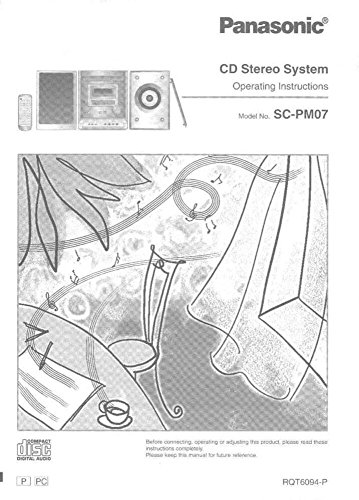 Panasonic SA-PM07 CD Stereo System Owners Instruction Manual Reprint [Plastic Comb] Every Instruction Manual