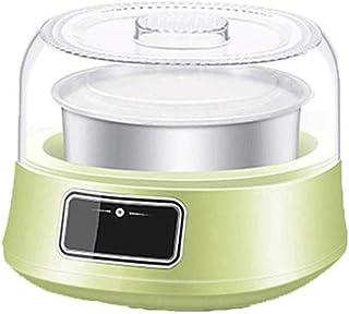 SJYDQ Machine à yaourt automatique électronique en acier inoxydable Liner Machine à yaourts ménager, affichage LED, très a...