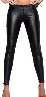 YezefennhfWCK بناطيل للنساء، سراويل جلدية للسيدات، Punk Rock، سراويل جلدية مثيرة برباط للرأس لراكبي الدراجات النارية، سروا...