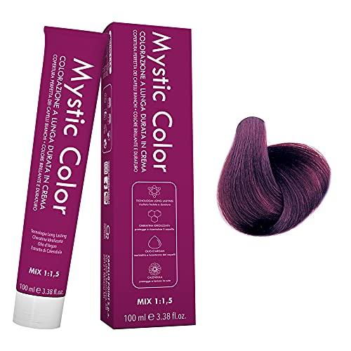 Mystic Color - Colore Biondo Viola 7.2 - Tinta per Capelli - Colorazione Professionale in Crema a Lunga Durata - Con Cheratina Idrolizzata, Olio di Argan e Calendula - 100 ml