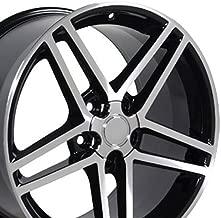OE Wheels 18 Inch Fits Chevy Camaro Corvette Pontiac Firebird C6 Z06 Style CV07A Gloss Black Machined 18x9.5 Rim