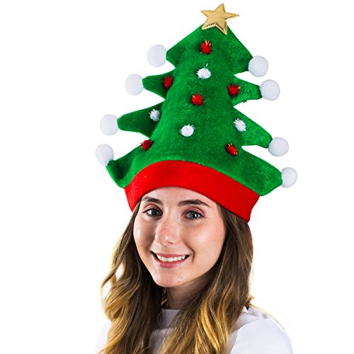 Funny Party Hats Christmas Hat - Adult Christmas Tree Hat - Novelty Hats