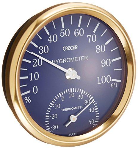 クレセル 温湿度計 ブルー CR-101B