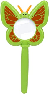 Tbest Cartoon Magnifier, Portable Kids Explorer Toy Insect Observation Magnifier Magnifying Glass (Cartoon Butterfly)