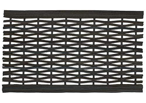 William Armes Limited Felpudo de goma reciclada resistente para entrada de neumáticos, resistente, 75 x 45 cm, color negro