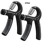 KEKU 2 Pieces of Hand-Held Grip Best Hand Exercise with Adjustable Resistance Range...