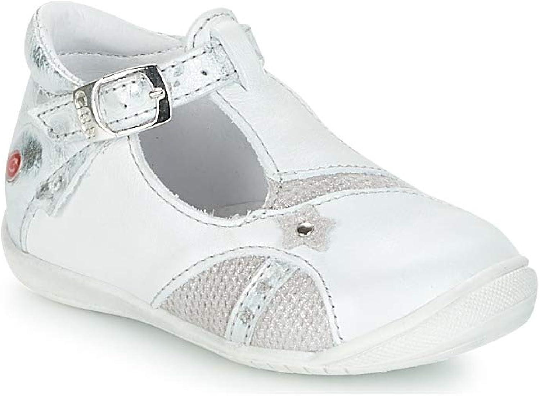 GBB Stephanie Ballerinas Madchen Weiss Silbern Ballerinas