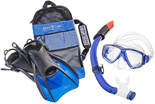 Aqua Lung Sport La Costa Travel Deluxe 3er Set (Tauchmaske, Schnorchel & Flossen) inkl. Beutel - Blue - Gr. 44-48