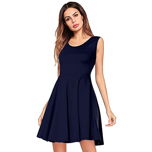f48365b9d64 Amoretu Womens Bell Sleeve Tunic Dress Casual V Neck Ruffle Swing Shift  Dresses