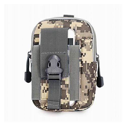 DWSLY De múltiples Fines Molle Táctica Bolsa de la Cintura Fanny Pack Bag Hombre Outdoor Deportes Cinturón Cinturón Titular de Teléfono Móvil Caso EDC Bolsas de Caza para Escalada al Aire Libre