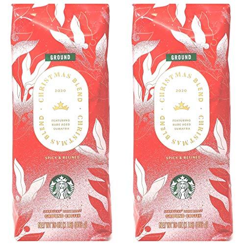 Starbucks Coffee Seasonal 2020 Christmas Blend Coffee - Pack of 2 Bags - 16 oz Per Bag - 32 oz...