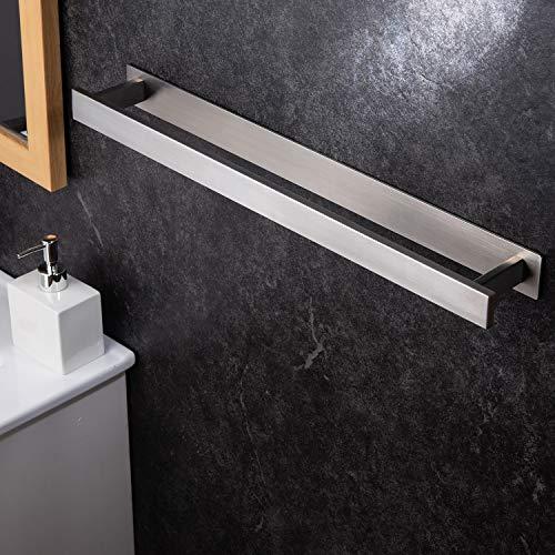 YIGII 55 cm Handtuchhalter Ohne Bohren Handtuchstange Bad Selbstklebend Badetuchhalter Edelstahl