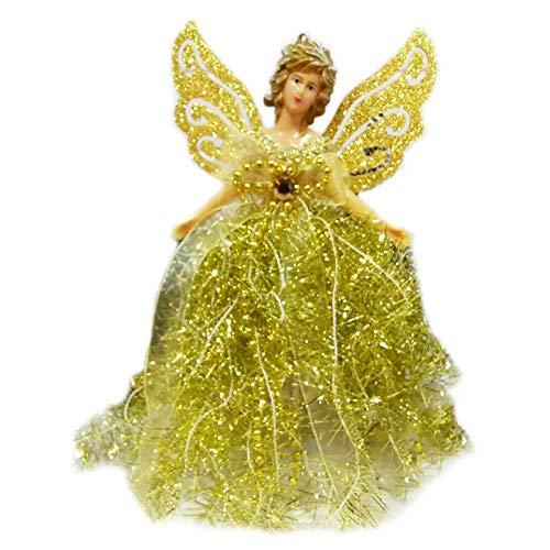 SWEETWU Yunerd - Mueca de ngel de Navidad para colgar en el rbol de Navidad, adornos para el hogar, luces de Navidad, disfraz de mascarada, accesorios para cosplay al aire libre
