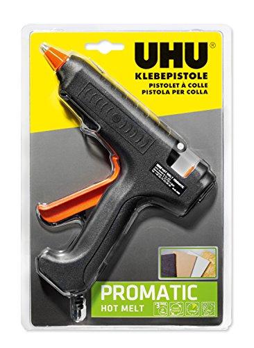 UHU Heißklebepistole Promatic Hot Melt, mit hoher Klebeleistung für Bastel- und Reparaturarbeiten, inkl. 3 Patronen