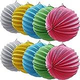 Pompones de papel de seda multicolor, pompones decorativos para Año Nuevo, origami, farolillo, decoración romántica para bodas, cumpleaños, fiestas, champán, 10 unidades